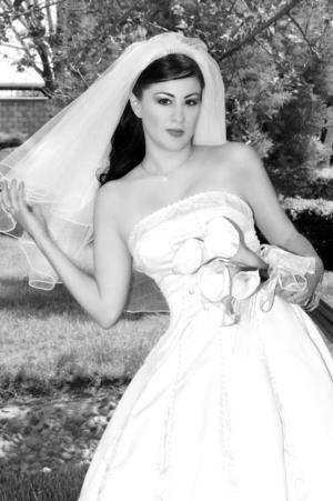 Lic. Pamela Meléndez Lechuga, el día de su enlace matrimonial con el Arq. José Alfredo Serrano Tejada.