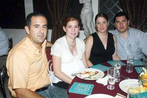 05052006  Ernesto Ramírez, Anayda Lahoz, Ale Zarra y Carlos Rebollo.