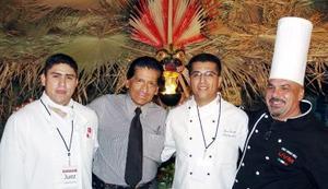 07062006  Gabriel Sánchez, Juan Medina, Luis Serrato y Renzo Meli.
