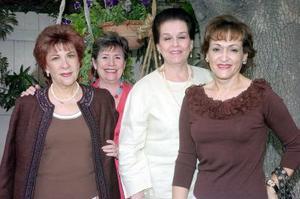 09052006 Eva María de García, Martha de Aguirre, Leticia de Gurza y Lety de Martínez.