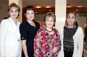 09052006  Vicky Madero, Alicia Villanueva, Bertha de Medina y Bertha Gómez.