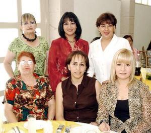 10052006  María Elena Samaniego, Doris de Rodeles, Nora Domínguez, Maly Cerda, Rocío Mota y Yuri de López Rubio.