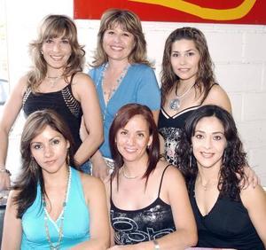 14052006  Laura Valle, Laura Martínez, Claudia Jáuregui, Eunice de Torres, Mónica Jiménez y Silvia Gidi.