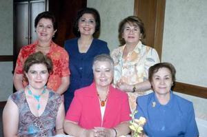 14052006  María del Carmen de Gurza, María Esthela de Morales, Rosy Solares, Yolanda Porragas, Janeth de Villa y María Elena Rodríguez.