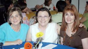 14052006  Zoila Muñoz, Malena Luengo y Margarita Lascuráin.