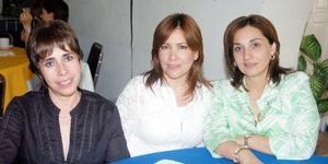 15052006  Esther Cedillo, Linda García y Mayela de Méndez.