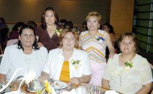 15052006  Margarita Ríos, Juanita Lozano, Emilia Vázquez, María Luisa Hernández y Socorro Villegas.