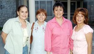 21052006  Adriana Seceñas, Tita Izaguirre, Mayela Mena y Paty Luna.