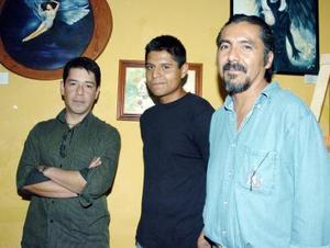 21052006  Héctor Cázares, Manuel Aguirre y Francisco Lira.