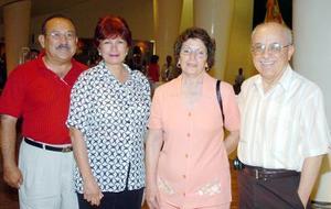 21052006  Héctor Gantenbein, Maya Berra, Rubén Balderas y Josefina Alonso.