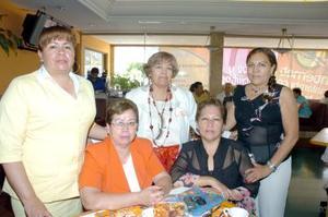 21052006  Hilda Amalia Espinoza, Carolina Calvillo de Ceniceros, María Teresa Favela Nava, María Teresa Aragón González y Jesusita Sánchez Lara.