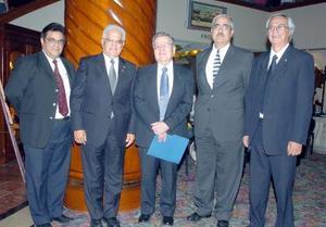 21052006  Pascual Hernández, Paedro Rivas, Luis Carlos Reyes, yamil Darwich y Carlos Güereca