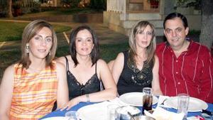 27052006  Lidia Ascencio, Gaby Duarte, Ana Tere Saldaña y Santiago Garza.