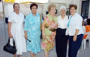 28052006  María Eugenia Román, Aurora de Padilla, Angélica Sánchez, Angelina de Márquez.