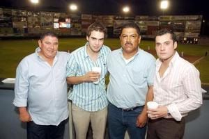 28052006 Roberto Villarreal, Hernando Garrido, Roberto Serrato y Maurice Colliere.