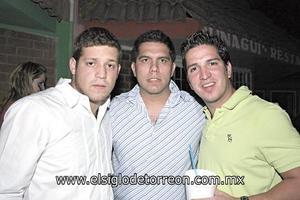 Joss Ganem, Antonio Carmona y Roy Montes de Oca.