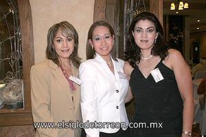 EXITOSA INAUGURACIÓN Jaqueline Puente, Susana Castillo Magaña y Guadalupe Gómez Rodríguez.