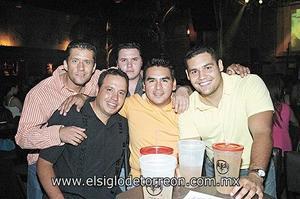 Luis Nava, Edgar Zarate, Felipe Gaitán, Daniel Camacho y Rodolfo Soto.