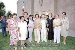 Olga Carmona, Piluca Sánchez, Josefina del Río, Tere Peña, Pili Hernández, Livi de la Peña, Marta Elena R. de Aguirre, Rosita Ibarra y Pocha Acosta.