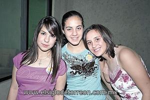 Melissa Garza, Nadia Dabdoub y Paty Villarreal.