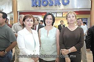 Natalia Gutiérrez, Sofía Pérez y Nena López.