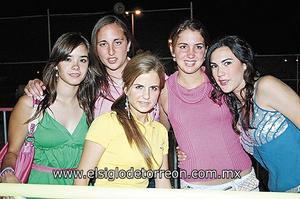 Andrea Hernández, Abi, Paola Zarzar, Nataly y Ana Sofía.