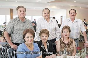 Rogelio Gaitán Enríquez, María Teresa Salcido de Gaitán, Eduardo de la Peña Arriola, Margarita Enríquez de Gaitán, Eduardo de la Peña Gaitán y Margarita Gaitán Enríquez.