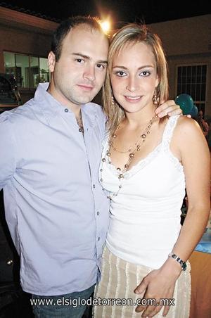 Polo González y Claudia Rueda.