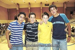 David Tueme, Andrés Garza, Luis Michel Gastaldi y Gerardo Ramos.