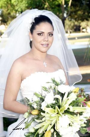 Srita. Liliana Mendoza Torres, el día de su enlace nupcial con el Ing. Sigifrido Macías Rivera.