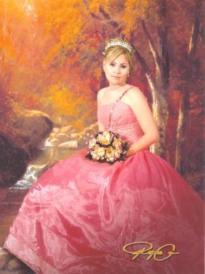 Srita. Karla NatalyMartínez Ontiveros el día que celebró sus quince años de vida.