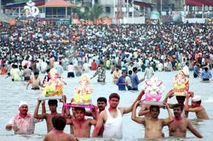 Este festival, que se celebra en la india durante los meses de agosto y septiembre, tiene una significación especial en Maharashtra.