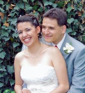 Srita. Ericka Ali Carrillo Montaño, el día de su boda con el Dr. Isaac Solís Bretado.