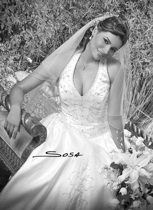 Srita. Rosa Martha de la Cruz Urquizo, el día de su enlace nupcial con el Sr. Paul Ernest Niemeier.<p>  <i>Estudio: Sosa</i>