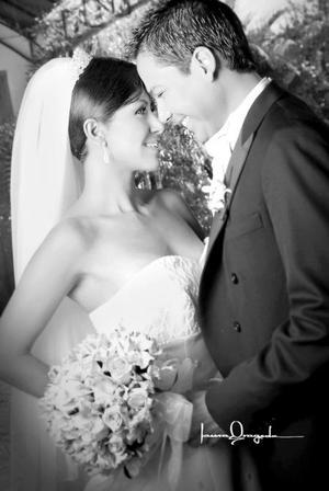Srita. Diana Pérez Ek, el día de su boda con el Sr. Alberto Sáenz de la Fuente.