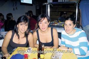 Rina Gilio, Raquel Lavín y Pilar López Amor.