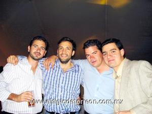 Humberto Ruíz, Gustavo Aizcorbe, Jorge Jalife y Nesim Issa