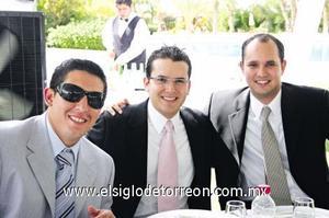 Jorge, José Fernando y David.