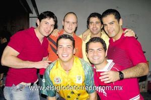 Jaime Núñez, Samuel y Pedro Barboglio, Luis Arratia, Jesús Córdoba y Rubén Castillo.