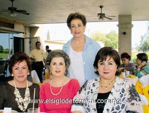 Queta de Izaguirre, Peggy de Isasi, Licha de Mena y María Elena de Fernández.