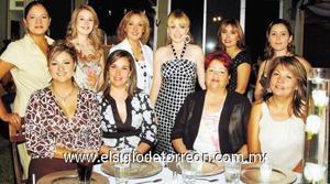 Gaby Mendoza, Vicky Hernández, Angélica Mendoza, Laura Grageda, Lety González, Katy de González, Maru Moreno, Yasmín Jackson, Mireya y Caqui Mendoza.