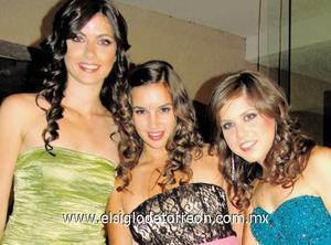 Marian Marcos, Banchis Borrego y Mariana Estrada