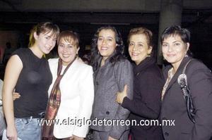01122006  Alejandra Urby, Rosario Castro, Silvia Longoria, Mayela y Martha Segura.