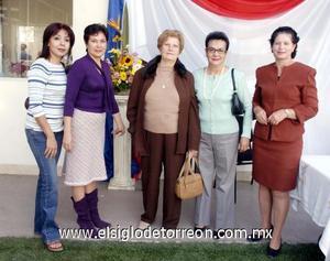 03122006  Mayela, Juanis, Dolores, María Guadalupe y Dina Díaz.