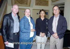 03122006  Salvador Jalife, Nancy de Jalife, Claudia Maynez y Francisco Murillo.