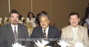 09122006 César González, Octavio Barraza y Hernando Ojeda.
