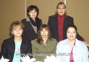 09122006 María Becerril de Siller, Cony de Santiago, Mirey Zaragoza, Esthela de Alemán y Leticia Arellano.