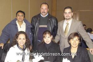 09122006 Nora Barrera, Blanca Jáquez, Claudia Franco, Óscar Gutiérrez, José Majid Ayup y Jorge Cantú.