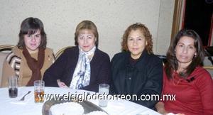 10122006  Claudia Gutiérrez Luna, Gloria de Gutiérrez, Martha Barrientos y Lourdes Montoya.