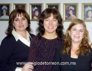 10122006  Luz Elena Meraz de Bustos, Paty de Aguilera y Karla de Cuéllar.